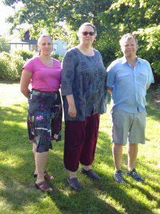 På bilden syns styrelsen. Från vänster till höger: Ulrika Jonsäll, ordförande, Petra Modée, kassör och Petter Bykvist, ledamot.